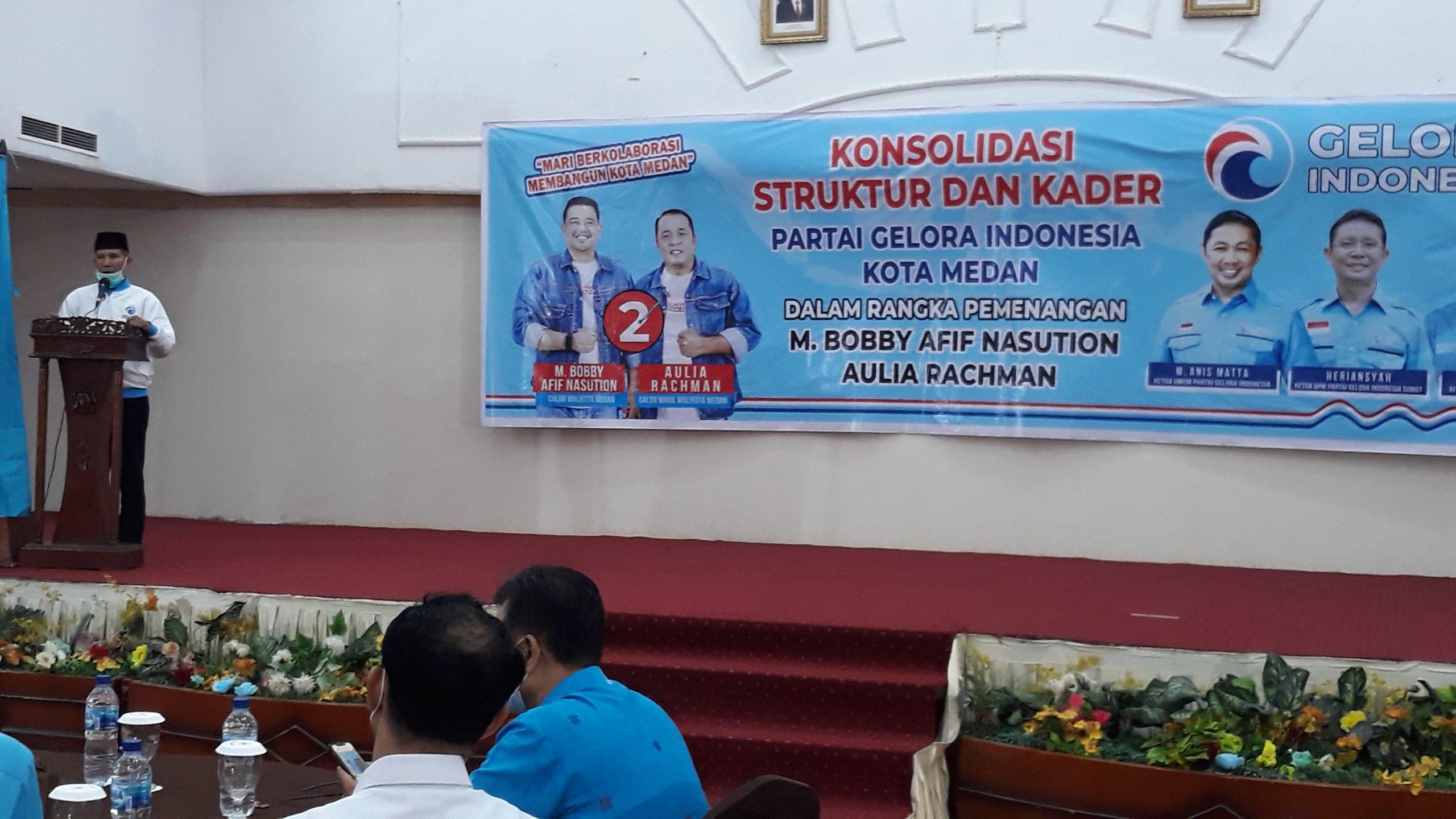 Muhammad Nasir : Kehadiran Ketum Partai Gelora Indonesia di Kota Medan Membangkitkan Semangat Seluruh Kader