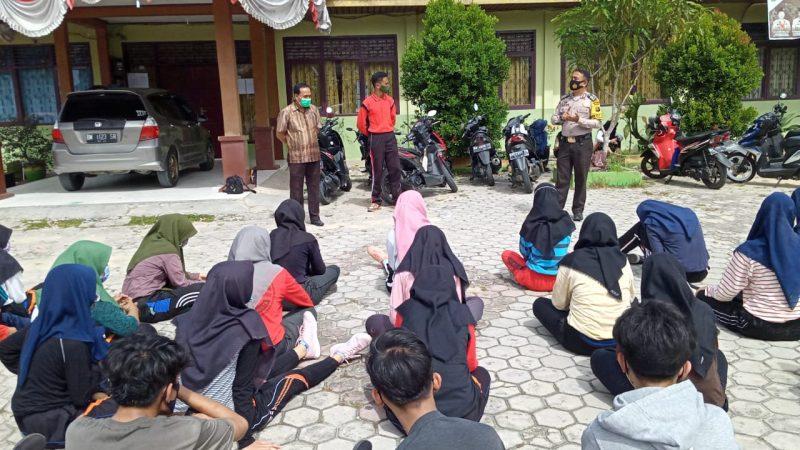 Pelajar SMA Negeri 1 Tualang Langgar Protokol Kesehatan Covid-19, Berkumpul Tanpa Izin Kasek