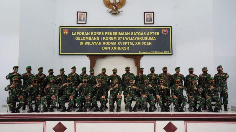 Danrem 071/Wijayakusuma Pimpin Laporan Korps Prajurit Wijayakusuma Kembali Dari Satgas Teritorial