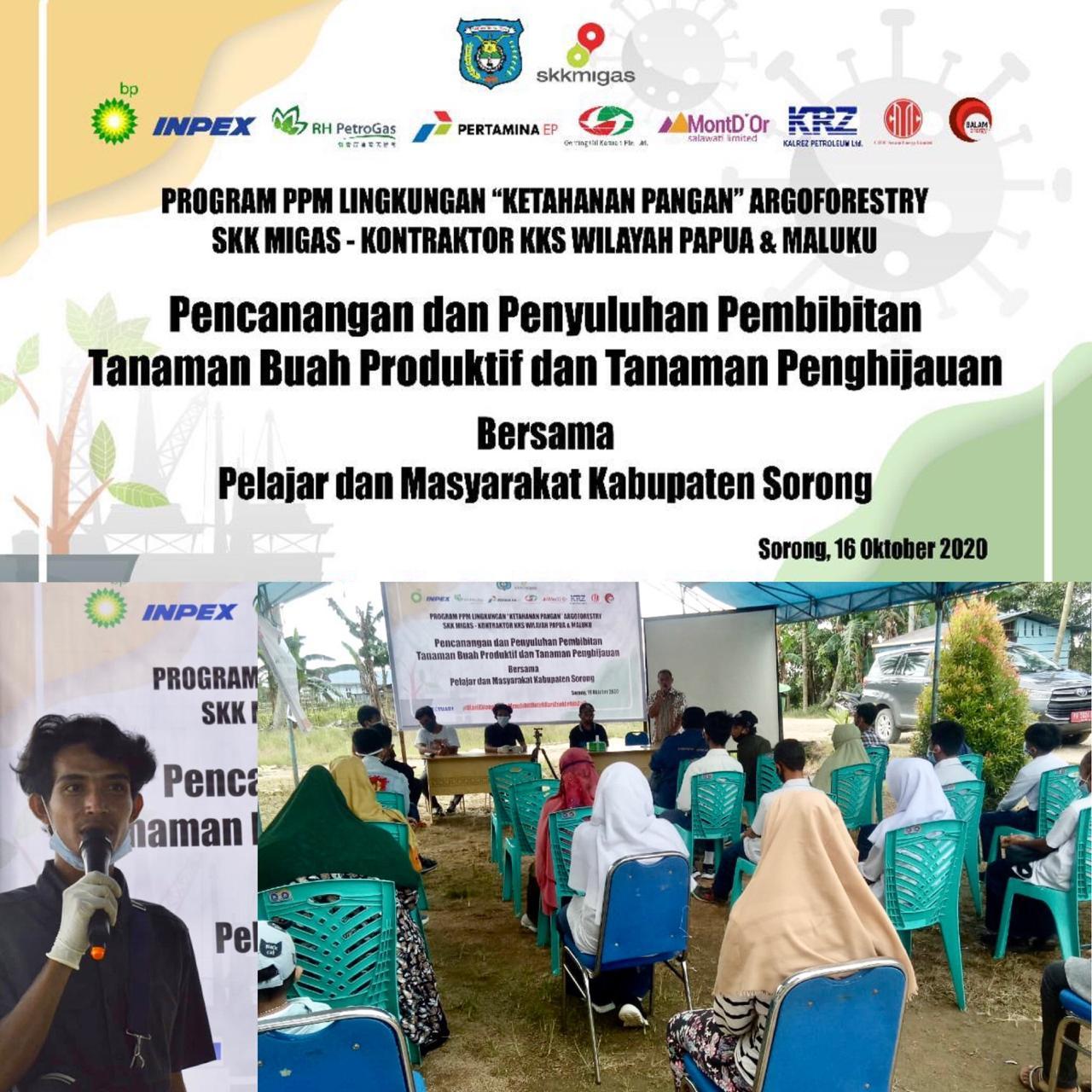 Peringati Hari Pangan Sedunia 2020, SKK Migas – KKKS Papua Barat Melakukan Aksi PPM Lingkungan Bersama Pelajar dan Masyarakat di Kabupaten Sorong