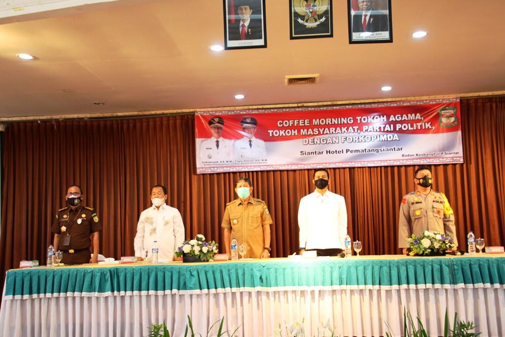 Walikota Siantar Coffee Morning Bersama Forkopimda dan Parpol, Sepakat Deklarasi Jaga Persatuan dan Kesatuan