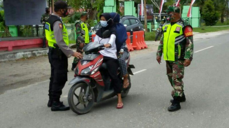 Polsek Samboja Laksanakan Penerapan Disiplin dan Gakkum Prokes Covid-19