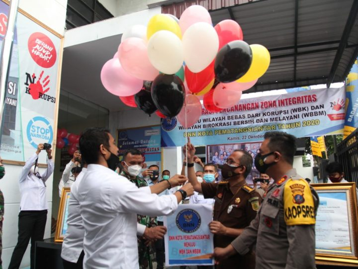 Pencanangan Zona Integritas WBK dan WBBM di BNN, Walikota Siantar Sebut: Semoga Bukan Hanya Slogan