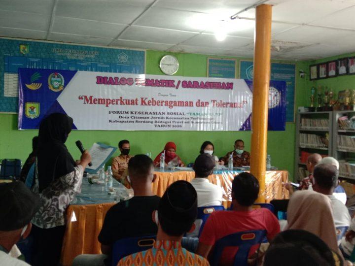 Kemensos RI Bersama Forum Keserasian SosiaTaman Sari Desa Citaman Gelar Dialog Tematik