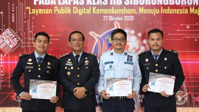 Upacara Peringatan HDKD 2020, Lapas Siborongborong Layanan Publik Digital Menuju Indonesia Maju