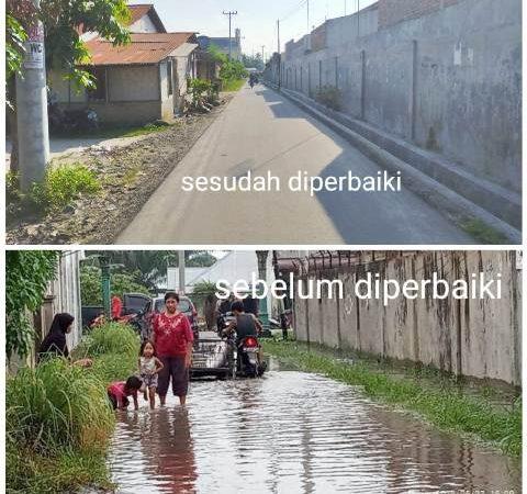 Jalan Diperbaiki, Warga Dusun VIII Desa Firdaus Ucapkan Terimakasih Kepada Darma Wijaya