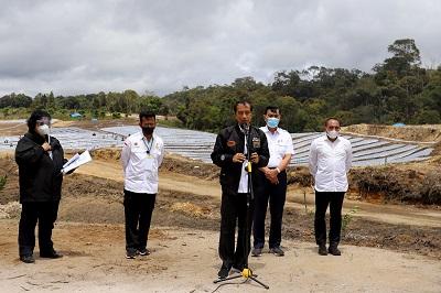 Presiden RI Joko Widodo Tinjau Lumbung Pangan di Humbahas