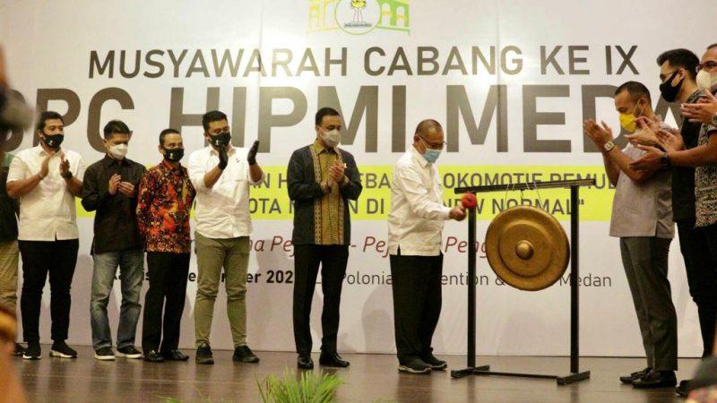 Akhyar Ajak HIPMI Bangkitkan Perekonomian Kota Medan di Tengah Pandemi