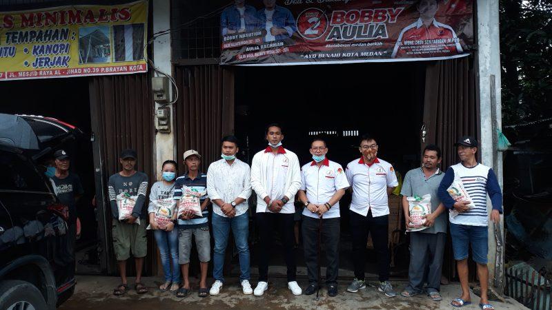 TMP Kota Medan Kembali Bhaksos Sambangi Dua Kelurahan di Medan Barat