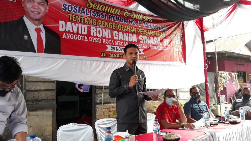 Minim Pelayanan, David Roni Ganda Sinaga Soroti Kinerja DKP Kota Medan