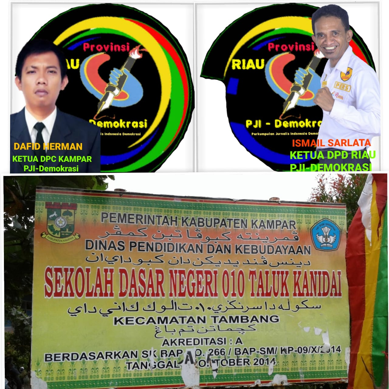 Dugaan Praktek Pungli, PJI-Demokrasi minta Kadisdik Non-Aktifkan Hanafi,S.Pd dari Kepala Sekolah