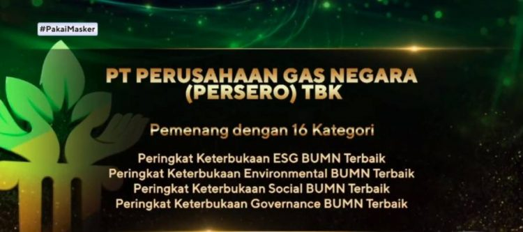 PGN Raih 16 Penghargaan ESG Awards 2020