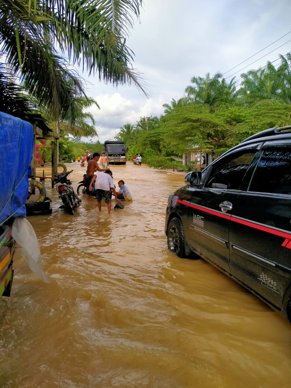 Air Sungai Bilah Meluap, Jalan Lintas Negerilama-Pangkatan Banjir