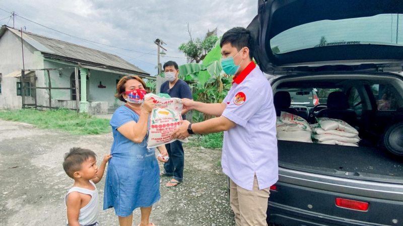 TMP Sumut Bagikan 100 Karung Beras 5Kg Kepada Warga Etnis Tionghoa di Medan Labuhan