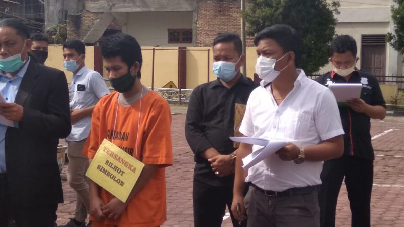 Kasus Pembunuhan Rianto Simbolon, Polres Samosir Menggelar Rekontruksi