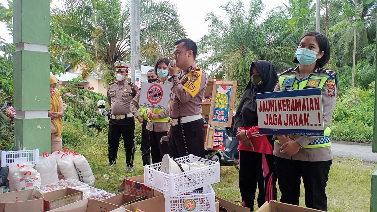 Kedai Murah Satlantas Polres Sergai Roadshow Ke Tanjung Beringin