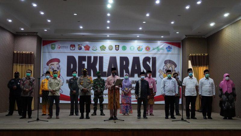 Pesta Demokrasi, Forkopimda Dan Elemen Masyarakat Siak Tolak Money Politic
