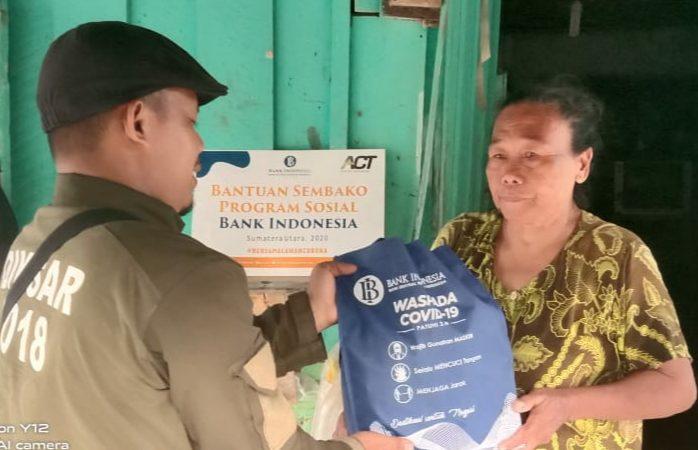 Bank Indonesia di Masa Covid-19 Berbagi Kasih ke 5 Kecamatan Kota Binjai