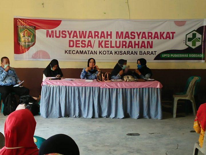 UPTD Puskesmas Sidodadi Gelar Musyawarah Masyarakat Terkait Covid-19
