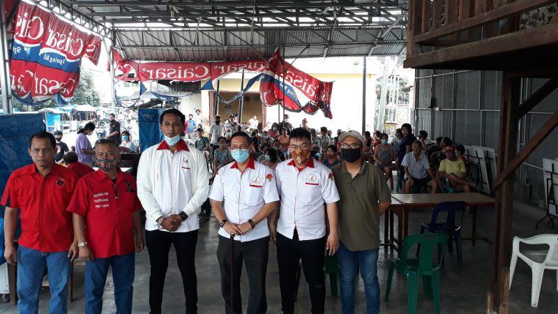 Giat Menangkan Bobby-Aulia, Wong Chun Sen Pimpin Kader TMP Kota Medan Turun ke Masyarakat