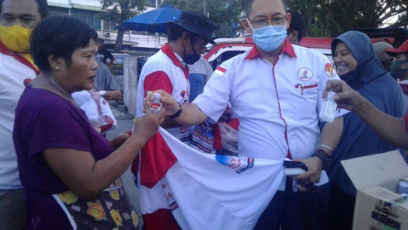 Cegah Covid19, TMP Kota Medan Bagikan 1000 Botol Handsanitiezer