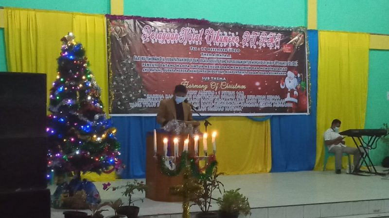 Tetap Menerapkan 3M, Ibadah Natal PT PAS  Berjalan Aman dan Lancar
