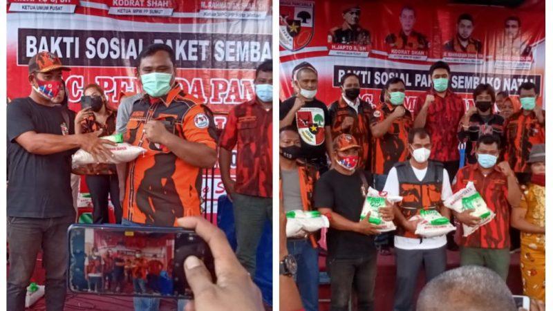PAC PP Medan Labuhan Adakan Bhakti Sosial Bagikan 500 Paket Sembako