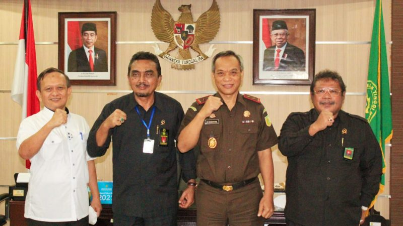 Kajati Sumut Jalin Silaturahmi Dengan Ketua Pengadilan Tinggi Medan