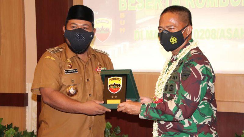 Pangdam I BB Mayjen TNI Hasanuddin Kunker di Makodim 0208/As, Walikota Tanjungbalai Menghadiri