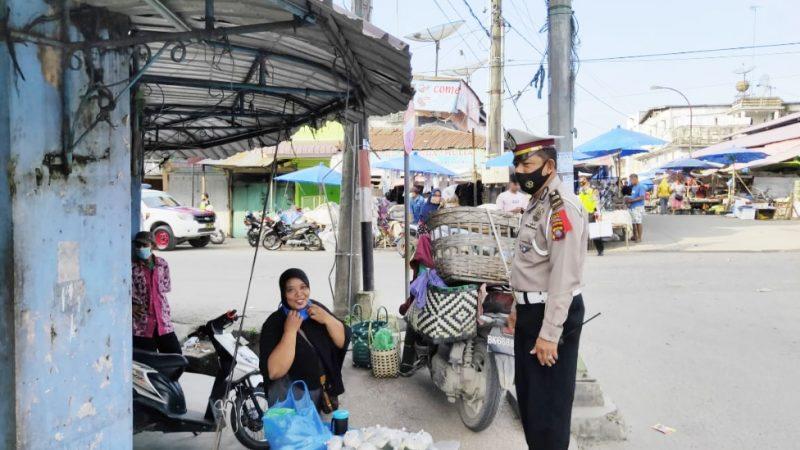 Masyarakat Apresiasi,Sat Lantas Polres Tanjungbalai Tindak PKL Dan Parkir Liar