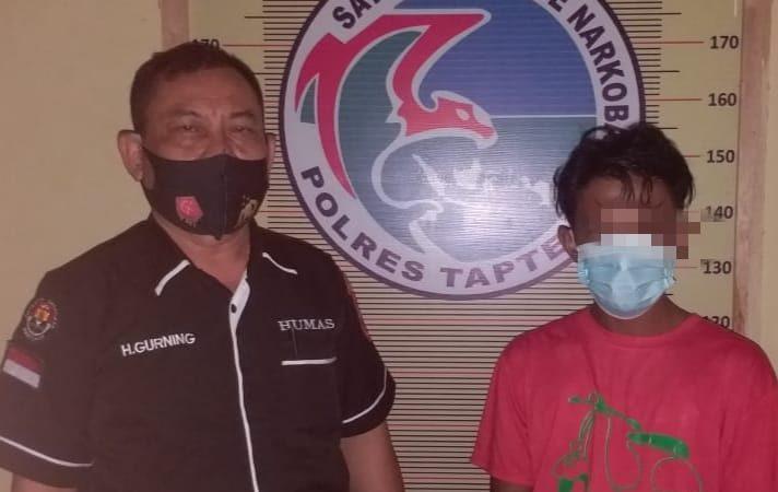 Miliki 19 Paket Narkotika, Personil Polres Tapteng Amankan Warga Pasar Belakang