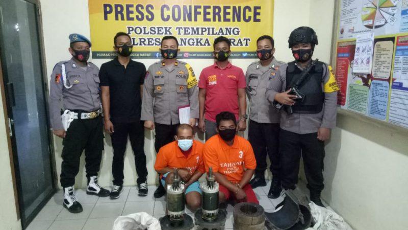 Polsek Tempilang, Konferensi Pers Pengungkapan Kasus Tindak Pudana Pencurian