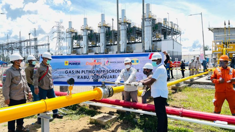 Perta Daya Gas Alirkan Gas Perdana ke PLTMG Sorong