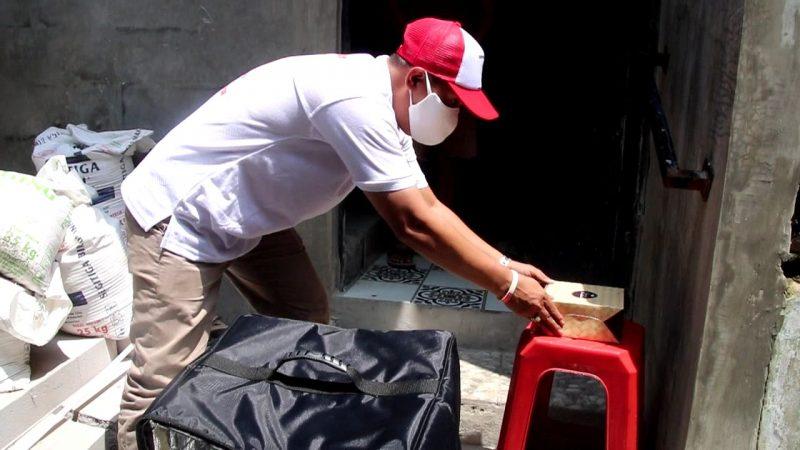 Polsek Sawah Besar Lakukan Kegiatan 'DELIVERI ISOMAN' Bagi Warga Yang Isolasi Mandiri