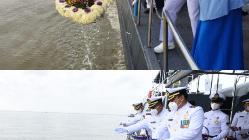 Peringati Pertempuran Heroik di Laut Arafuru, Lantamal I Laksanakan Upacara Tabur Bunga