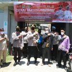 Kapolresta Tangerang Tinjau Pelaksanaan Vaksinasi di Ponpes Al-Falahiyah Kronjo