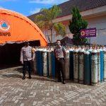 Pengecekan Ketersediaan Tabung Oksigen di Rumah Sakit yang Ada di Wilayah Hukum Polres Kukar